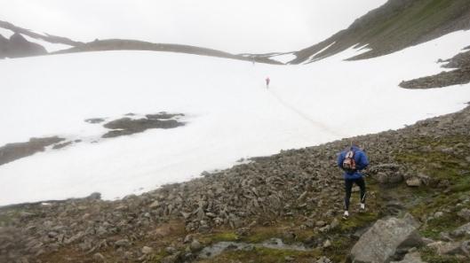 Á hlaupum upp Reykjaheiði 7. ágúst 2014. (Ljósm. Sævar Skaptason).